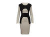 Grey & Black Roland Mouret Long Sleeve Dress