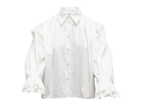 Beige Celine Long Trench Coat
