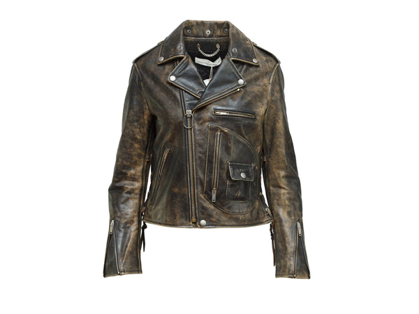 Golden Goose Deluxe Brand Distressed Leather Jacket