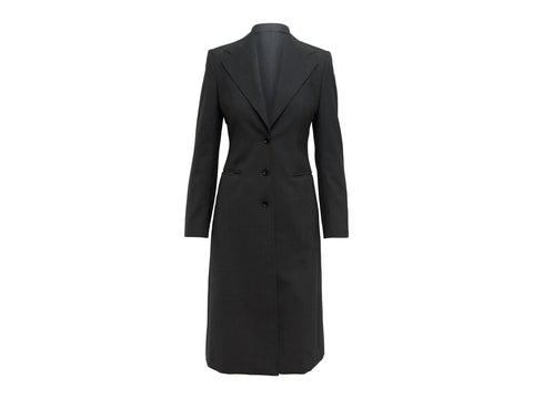 Dark Grey Dolce & Gabbana Virgin Wool Coat