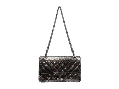 Silver Mirror Chanel Fall/Winter 2012 Reissue 225 Bag