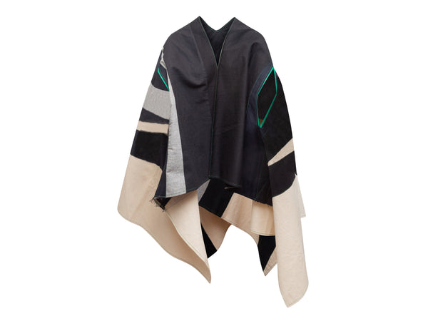 Black & White Balenciaga Houndstooth Pussy Bow Blouse