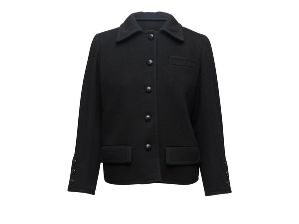 Vintage Black Yves Saint Laurent Wool Jacket