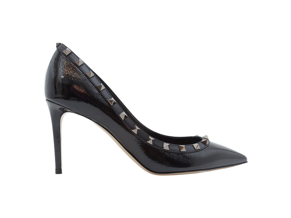 Black Valentino Patent Leather Rockstud Heels