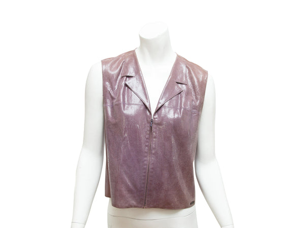 Purple Chanel Shimmer Embossed Vest