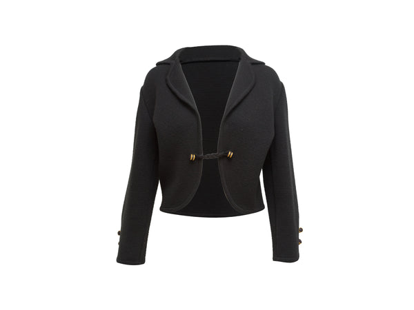 Vintage Black Yves Saint Laurent Rive Gauche Knit Jacket