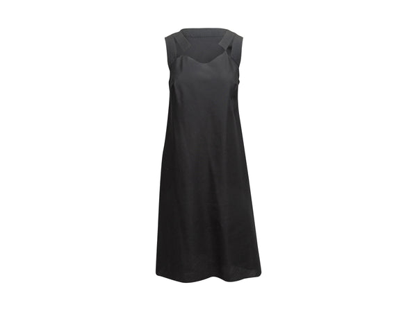 Black Nina Ricci Sleeveless Silk Dress