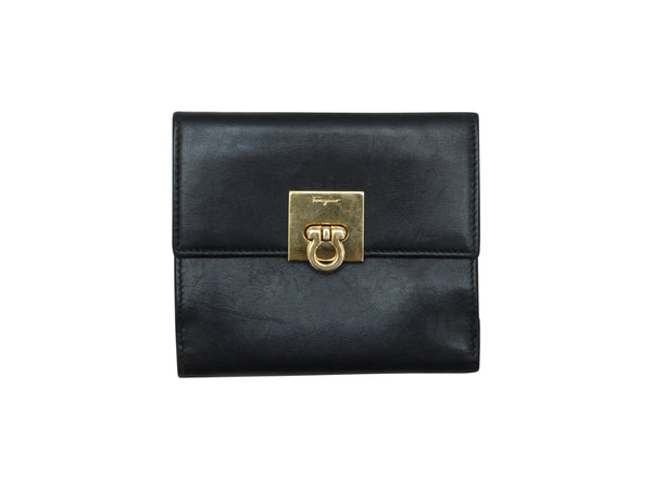 Black Salvatore Ferragamo Small Leather Wallet