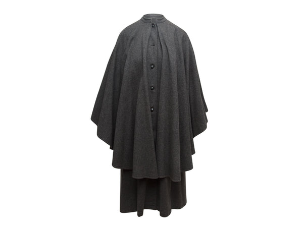 Vintage Grey Saint Laurent Long Cape