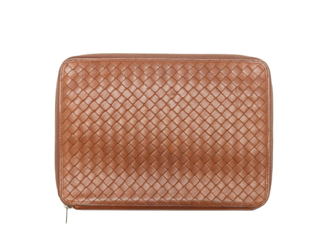 Brown Bottega Veneta Leather Notebook Case