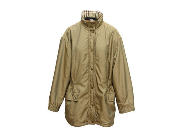 Vintage Tan Burberry Fleece-Lined Jacket