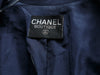 Vintage Navy Chanel Boutique Open Front Jacket