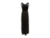 Black Loewe Suede Embellished Evening Dress