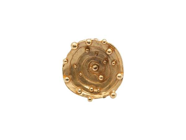 Gold-Tone Yves Saint Laurent Circular Oversize Ring