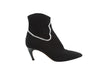 Black & White Christian Dior Knit Ankle Boots