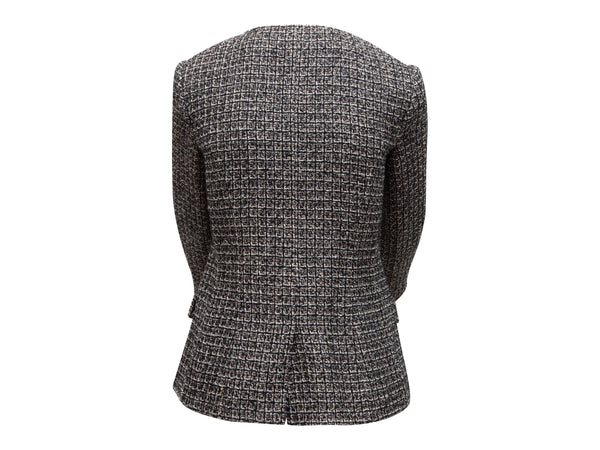 Dark Brown Brunello Cucinelli Leather Peep-Toe Booties