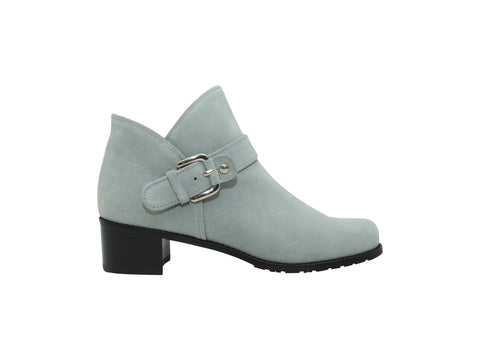 Grey Stuart Weitzman Suede Ankle Boots