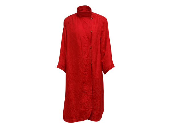 Vintage Red Ungaro Brocade Coat