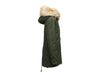 Olive Green Mr and Mrs Italy Fox Fur-Trimmed Coat