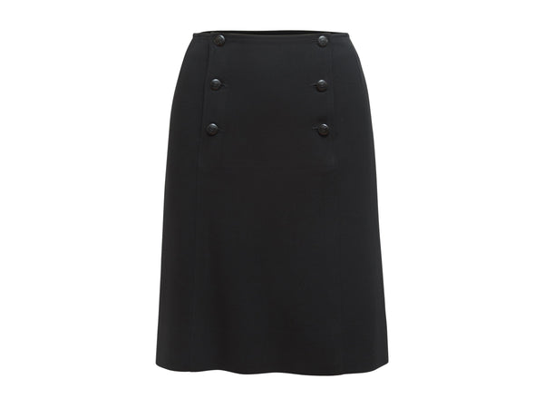 Black Vintage Chanel 1997 Cruise Wool Sailor Skirt