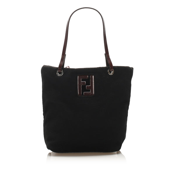 Black Fendi Felt Tote Bag