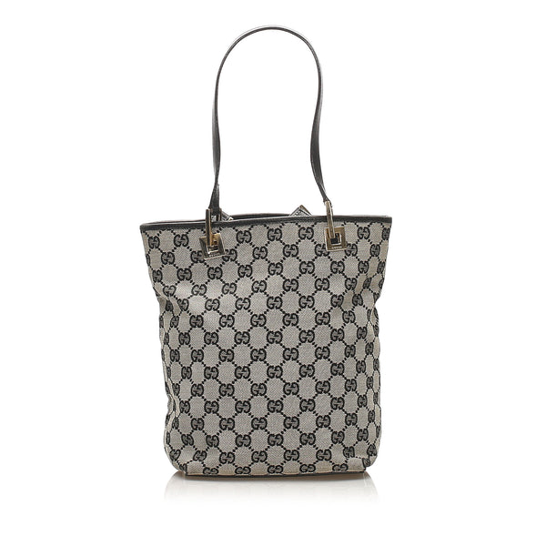 Gray Gucci GG Canvas Tote Bag