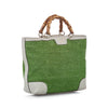 Green Gucci Nylon Bamboo Handbag Bag