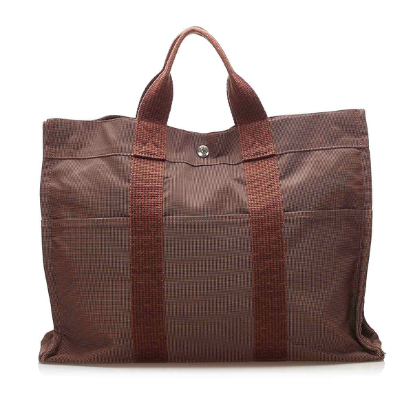 Brown Hermes Herline MM Tote Bag