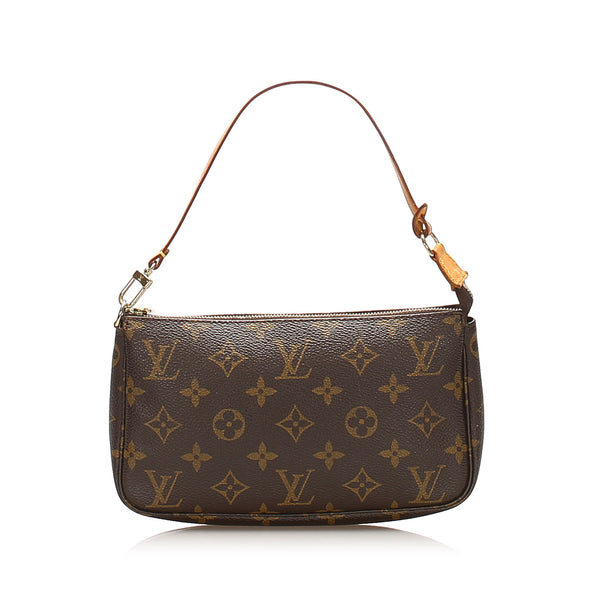 Brown Louis Vuitton Monogram Pochette Accessoires Bag