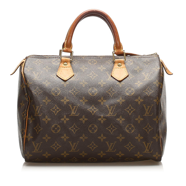 Brown Louis Vuitton Monogram Speedy 30 Bag