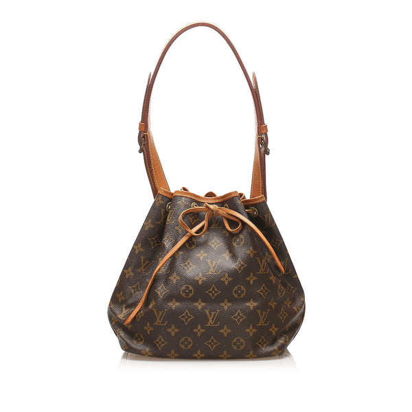 Brown Louis Vuitton Monogram Petit Noe Bag