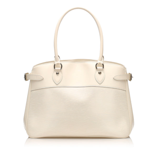 White Louis Vuitton Epi Passy GM Bag