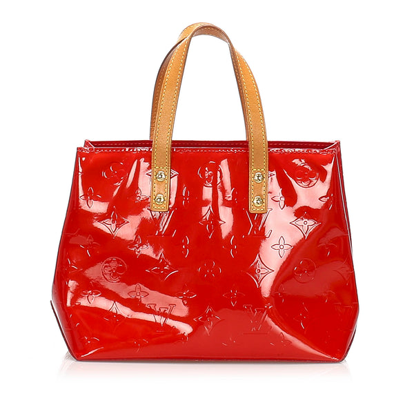 Red Louis Vuitton Vernis Reade PM Bag