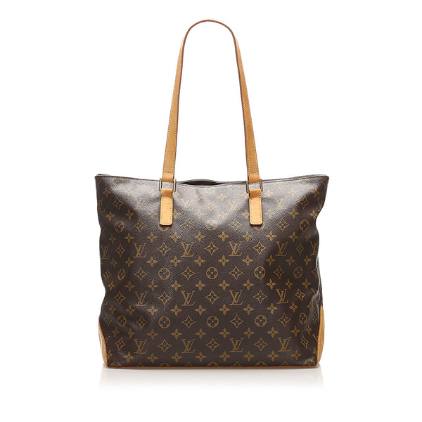 Brown Louis Vuitton Monogram Cabas Mezzo Bag