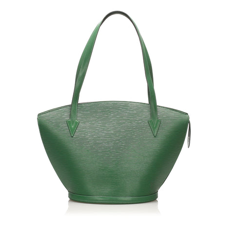 Green Louis Vuitton Epi Saint Jacques GM Long Strap Bag