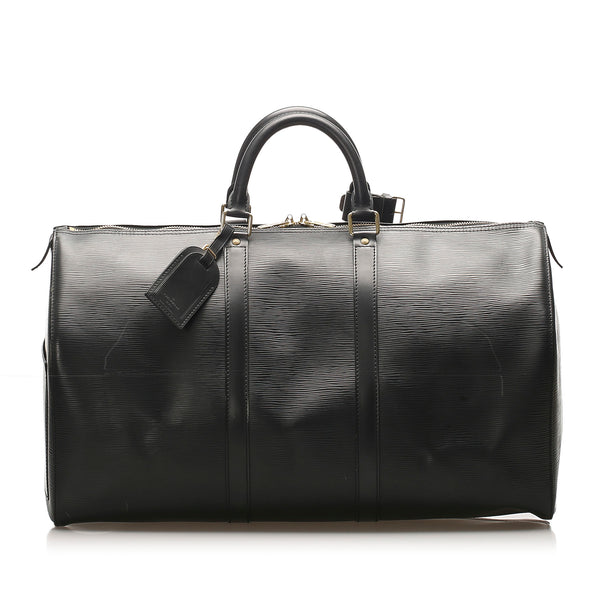 Black Louis Vuitton Epi Keepall 50 Bag