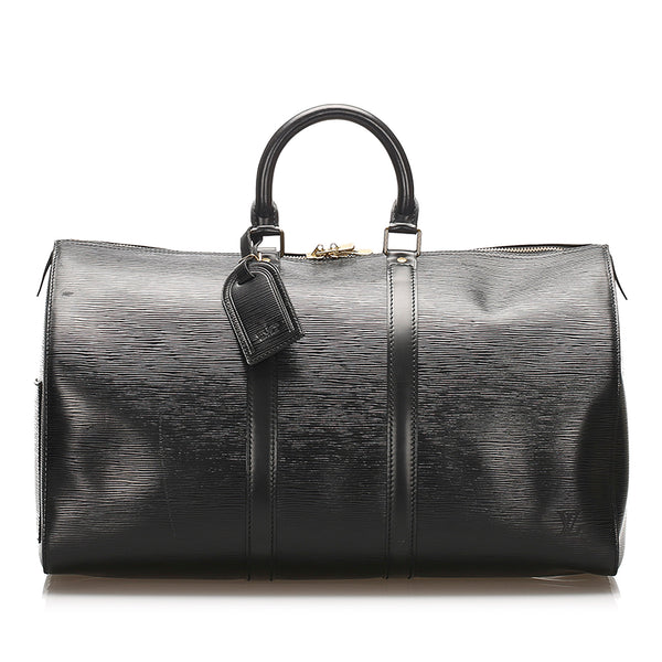 Black Louis Vuitton Epi Keepall 45 Bag