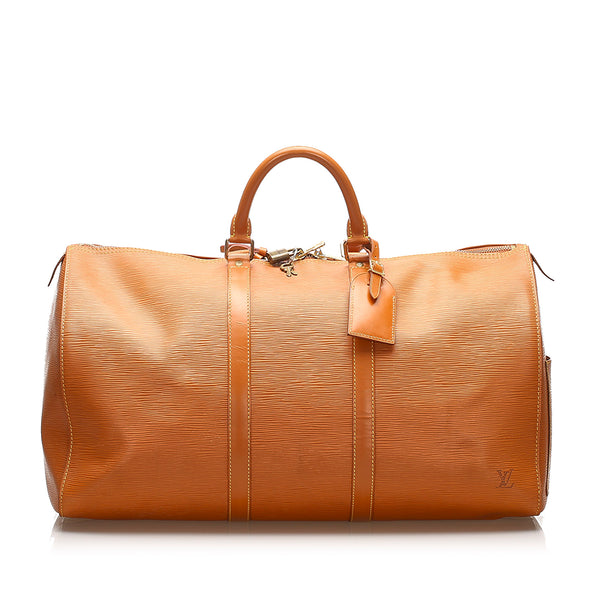 Tan Louis Vuitton Epi Keepall 50 Bag