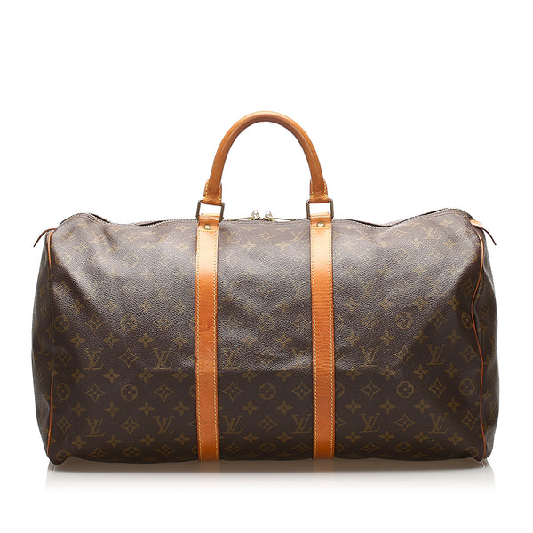 Brown Louis Vuitton Monogram Keepall 50 Bag