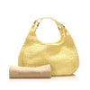 Yellow Bottega Veneta Intrecciato Campana Shoulder Bag