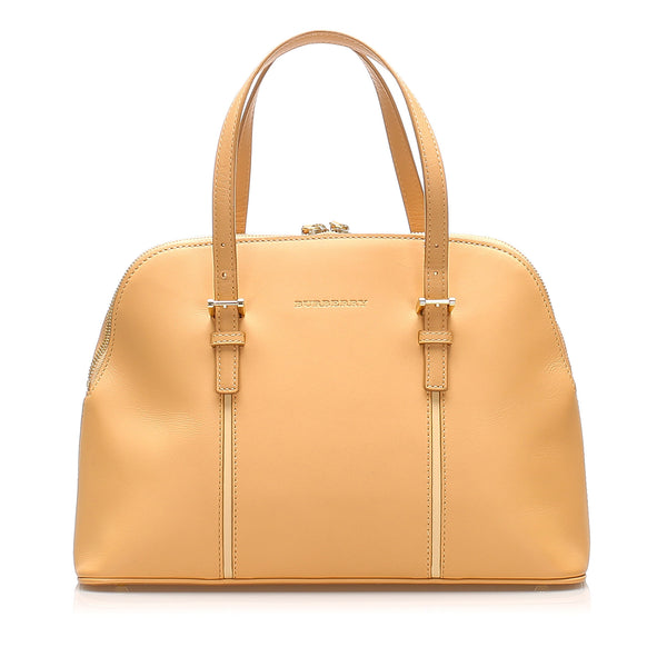 Apricot Burberry Leather Handbag Bag