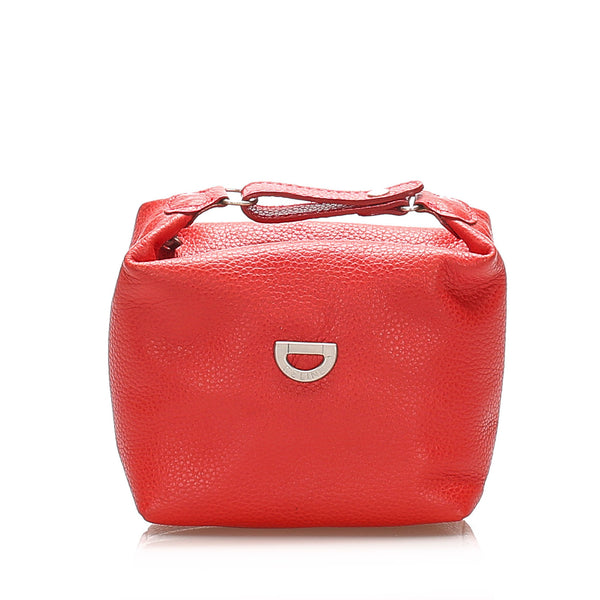Red Celine Leather Pouch