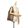 Brown Celine Macadam Canvas Tote Bag