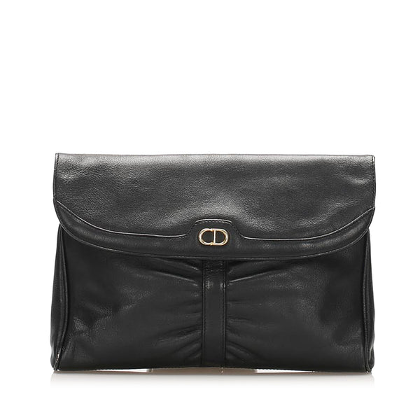 Black Dior Leather Clutch Bag