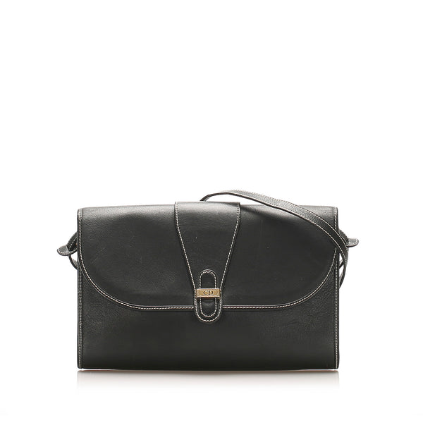 Black Dior Leather Crossbody Bag