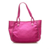 Purple Dior Dior Oblique Canvas Tote Bag
