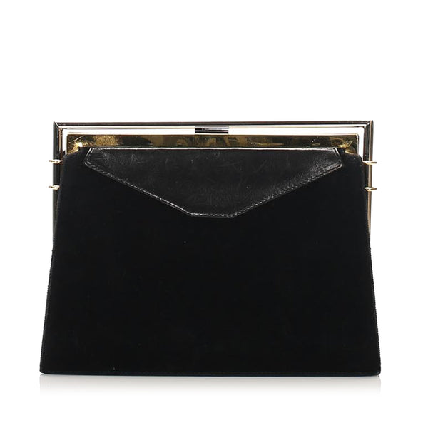 Black Fendi Leather Clutch Bag