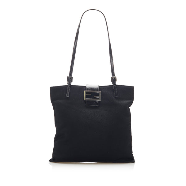 Black Fendi Canvas Tote Bag