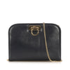 Black Ferragamo Gancini Leather Crossbody Bag