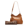Brown Gucci Marrakech Leather Shoulder Bag